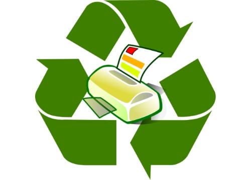 Logo du recyclage d'encre