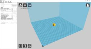 vue d'ensemble du dé dans logiciel CURA