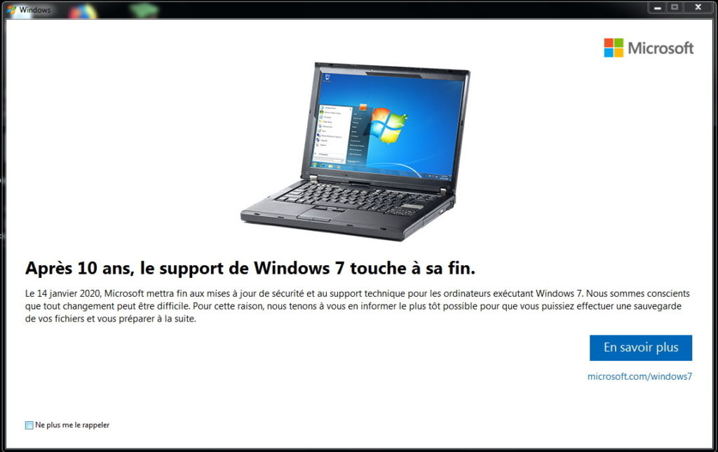 windows 10 touche à sa fin