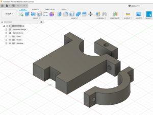 pièce 3D LNB dans Autocad Fusion