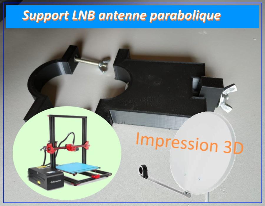 support LNB 3D antenne parabolique