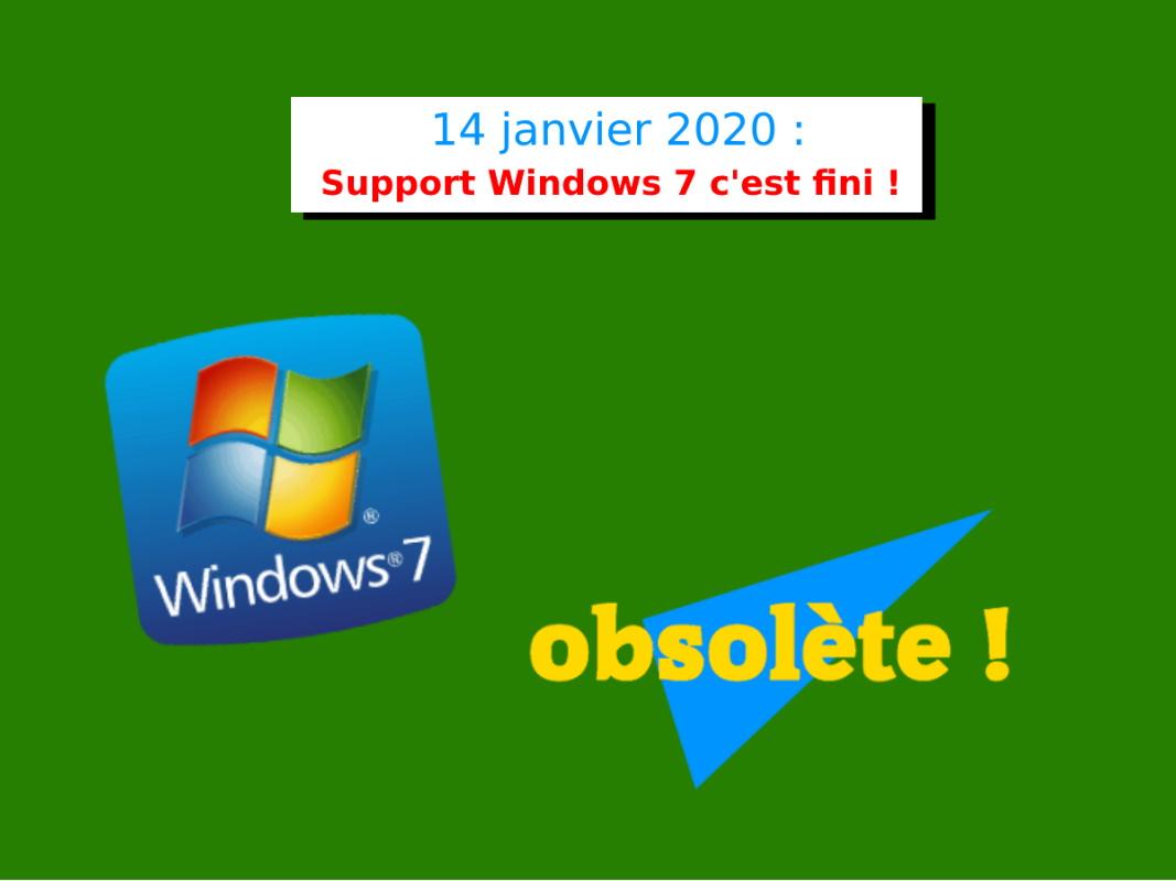 obsolescence de windows 7