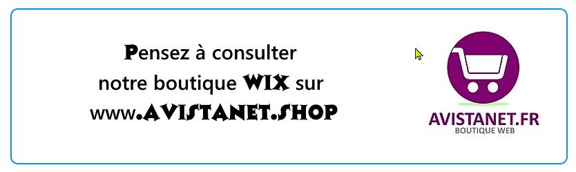 bandeau boutique wix