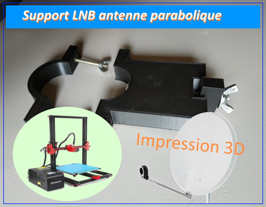 support LNB 3D antenne parabolique