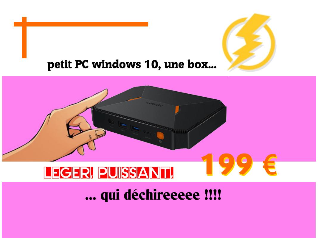 herobox une tout petit PC windows 10